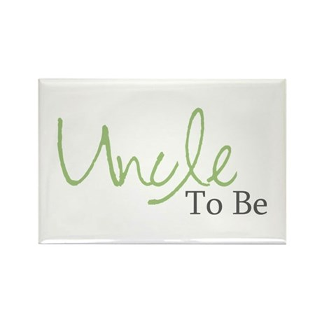 Uncle To Be (Green Script) Rectangle Magnet