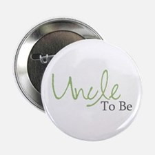 Uncle To Be (Green Script) Button