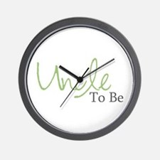 Uncle To Be (Green Script) Wall Clock