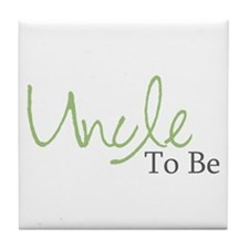 Uncle To Be (Green Script) Tile Coaster