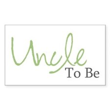 Uncle To Be (Green Script) Rectangle Decal