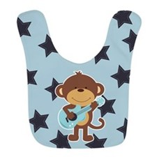 Monkey Rock Star With Guitar Bib