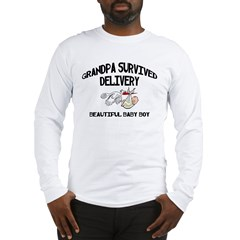 Grandpa Survived Delivery Long Sleeve T-Shirt