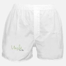 Uncle To Be (Green Script) Boxer Shorts