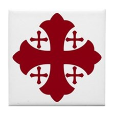 Jerusalem Cross Tile Coaster