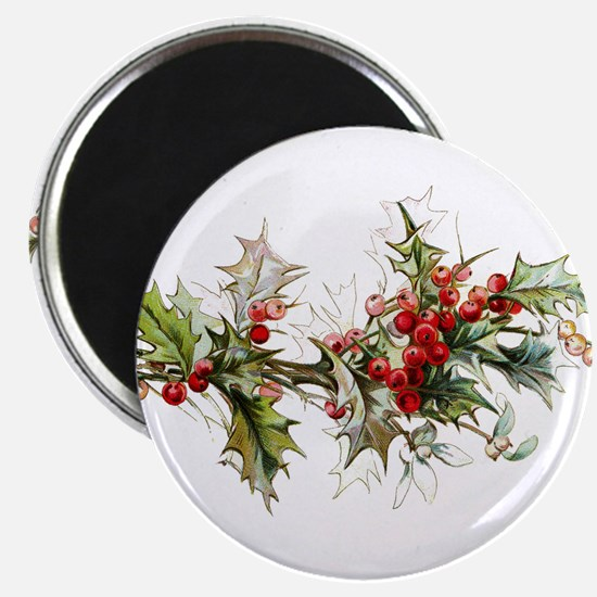 Holly and berries Magnets