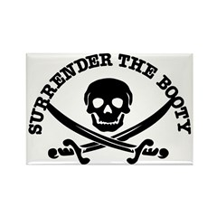 Surrender The Booty Rectangle Magnet (10 pack)