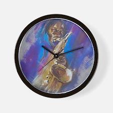 Jazz Sax Wall Clock