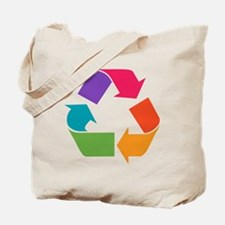 Rainbow Recycle Tote Bag