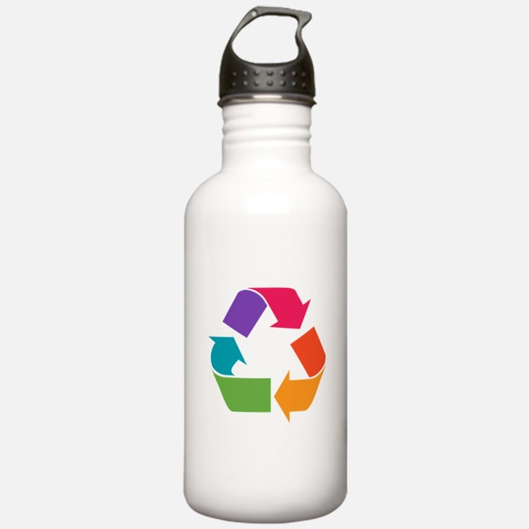 Rainbow Recycle Water Bottle