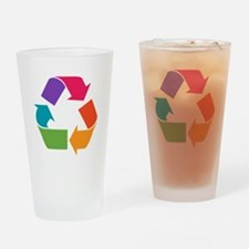 Rainbow Recycle Drinking Glass