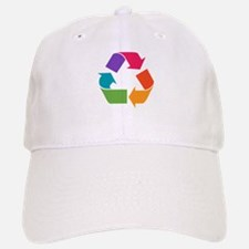 Rainbow Recycle Baseball Baseball Cap