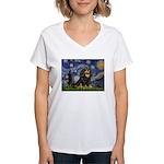 Starry Night Cavalier Women's V-Neck T-Shirt