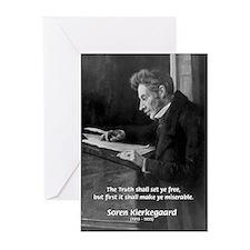 Truth Existentialist Kierkegaard Greeting Cards