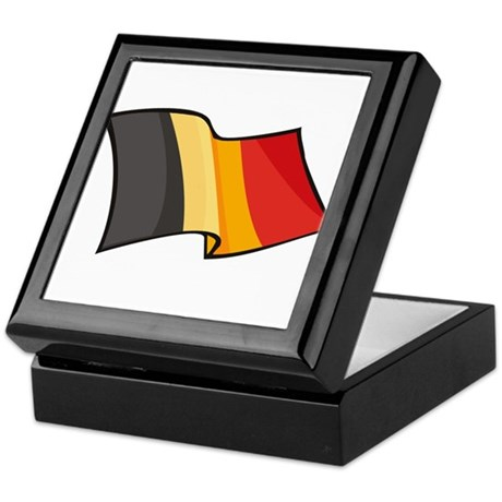 Belgian Flag Keepsake Box