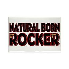Natural Born Rocker Rectangle Magnet