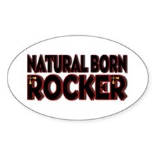 Natural Born Rocker Oval Decal