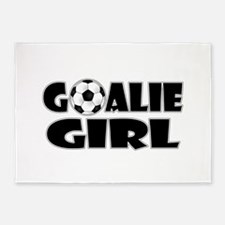 Goalie Girl - Soccer 5'x7'Area Rug
