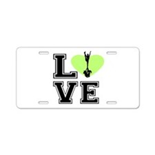 Love Cheerleading Aluminum License Plate