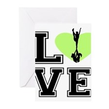 Love Cheerleading Greeting Cards