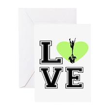 Love Cheerleading Greeting Cards