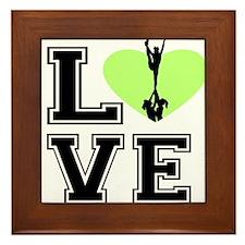 Love Cheerleading Framed Tile