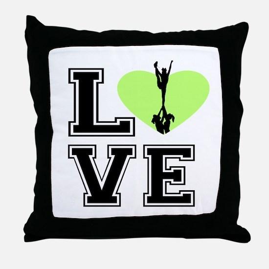 Love Cheerleading Throw Pillow