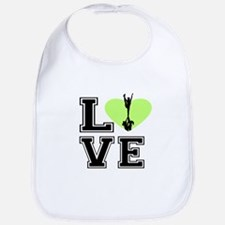 Love Cheerleading Bib