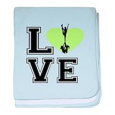Love Cheerleading baby blanket
