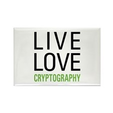 Live Love Cryptography Rectangle Magnet