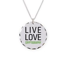 Live Love Cryptography Necklace