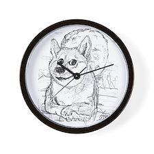 doge-moon Wall Clock