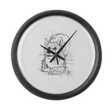 doge-moon Large Wall Clock