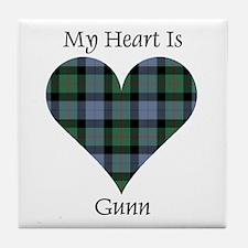 Heart - Gunn Tile Coaster