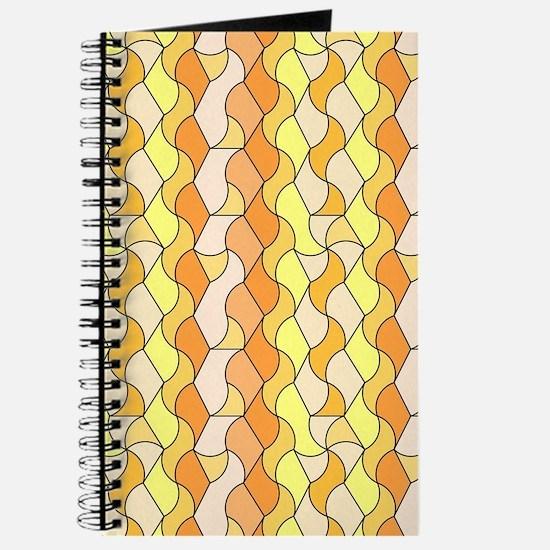 retro pattern Owen orange Journal