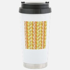 retro pattern Owen orange Travel Mug