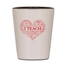 Big Hearted Teacher Shot Glass