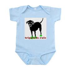 Kids Rear Leg Tripawd Lab Infant Bodysuit