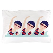 Synchronized Swimming Girls Pillow Case