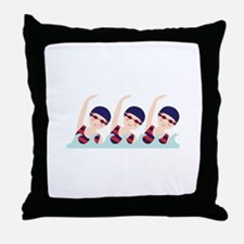 Synchronized Swimming Girls Throw Pillow