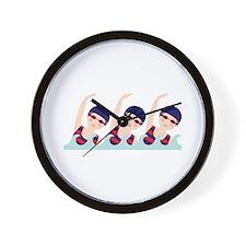 Synchronized Swimming Girls Wall Clock