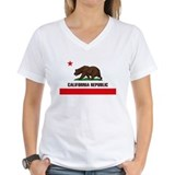 California Womens V-Neck T-shirts