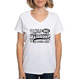 50th birthday Womens V-Neck T-shirts