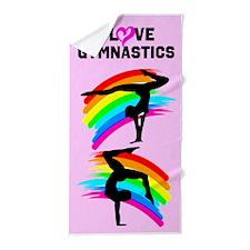 Gymnast Pose Beach Towel