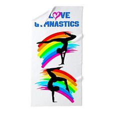 Gymnast Girl Beach Towel