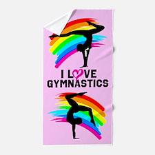 Sparkling Gymnast Beach Towel