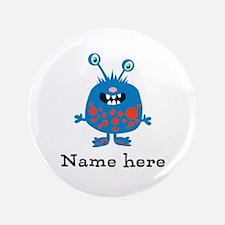 "Blue Monster (p) 3.5"" Button (100 Pack)"