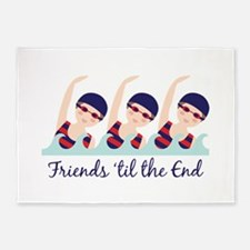 Friends til the End 5'x7'Area Rug