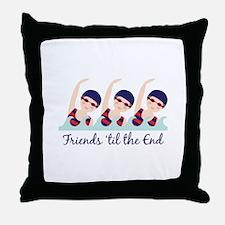 Friends til the End Throw Pillow