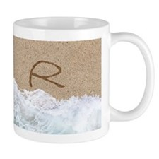 LETTERS IN SAND R Mugs